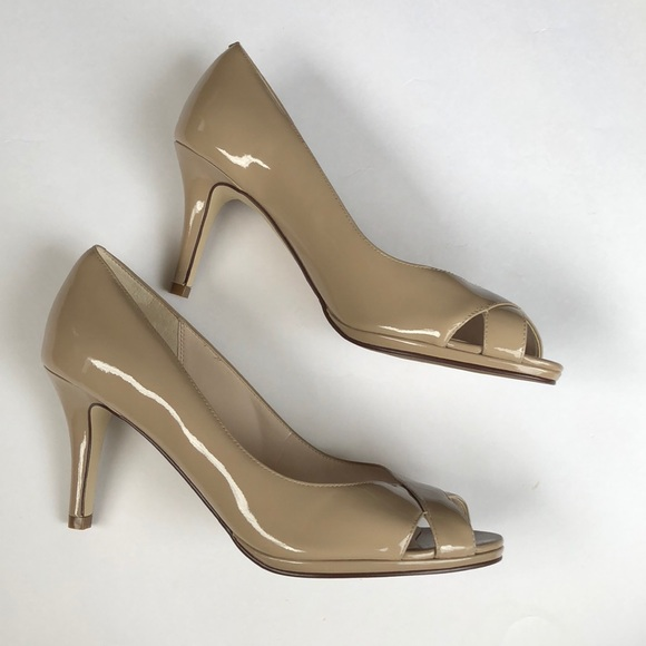 95abd01191a0 Cole Haan Shoes - Brand New nude Cole Haan Peep Toe Pumps